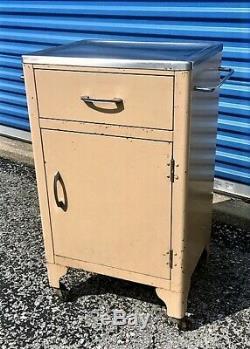 Vintage IndustrialMedicalHospitalDental Metal CabinetKitchen IslandSalon