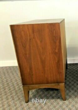 Vintage LANE RECORD CABINET mid century modern vinyl LP storage drop front table