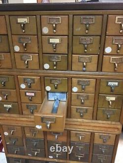 Vintage Library Card Catalog