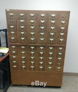 Vintage Library Card Catalog 60 Drawers File Cabinet PICK UP ONLY