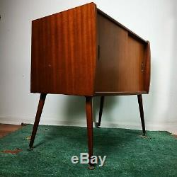 Vintage MCM Walnut Record Cabinet