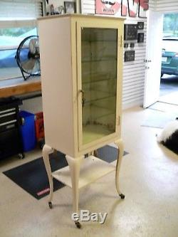 Vintage Medical Apothecary Cabinet 67 Tall 5 Shelves Frank S. Betz & Co Metal