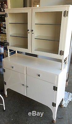 Vintage Medical Cabinet Lot Antique Dental Steel Metal