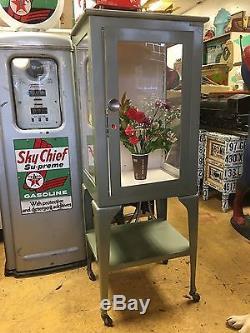 Vintage Medical Cabinet LOT - antique dental steel metal industrial machine age