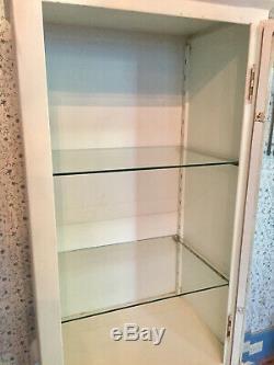 Vintage Metal Medical Cabinet Or Dental Cabinet