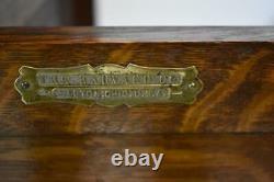Vintage Oak Dental Cabinet by The Harvard Company, Ohio, Quarter Sawn