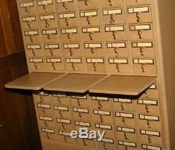 Vintage Remington Rand Library Card Catalog