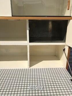 Vintage Retro tall larder unit Formica Plywood Frank Guile Kandya 1950s 1960s