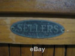 Vintage Sellers Hoosier Kitchen Cabinet, early 1900s