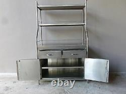 Vintage Shampaine Co. Industrial Steampunk Stainless Steel Surgical Cabinet