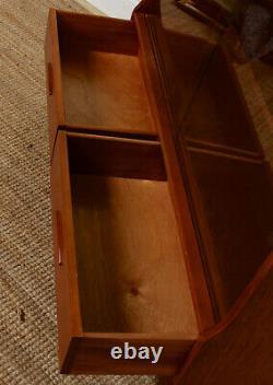 Vintage Teak Cabinet Sideboard Glazed Cupboard Retro Record