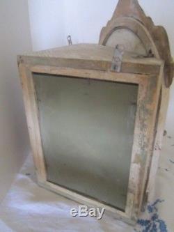 Vintage WOOD WALL CORNER CABINET bathroom medicine shabby Chic Curio