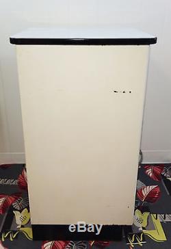 Vintage White Enamel Top Steel Kitchen Storage Cabinet Cupboard Pantry Breadbox