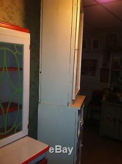 Vintage hoosier cabinet Farmhouse country Decor