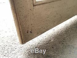 Vintage wood Kitchen Cabinet Cupboard Shelf glass doors salvage built in 1900