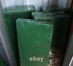 Vtg Metal Cabinet Mid Century Storage Cupboard With Shelves & Glass Front Doors