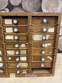 Watchmakers Tool Storage Cabinet Vintage Drawers