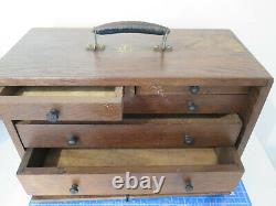 Watchmakers / engineers / wooden tool chest / vintage cabinet / L45 xW20 xH28