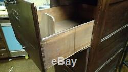 Weis Vintage Antique Wood Filing Cabinet Wooden Mission Style #2