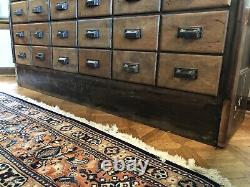 Wonderful Antique General Country Store Apothecary Cabinet