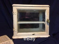 Wood/Metal Vintage Antique Anticeptic Dental Medicine Barber Cabinet