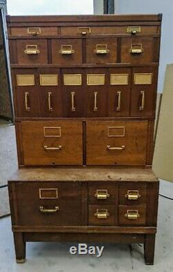 Yawman & Erbe Oak Stacking File Cabinet