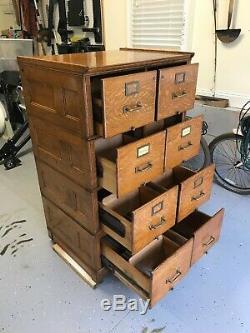 Yawman & Erbe Oak Stacking File Cabinet Early 1900s